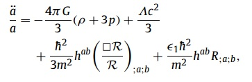 new second order friedmann equation
