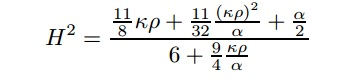 second order friedmann equation